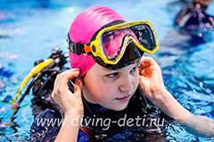 Подводное плавание для ребенка в СПб